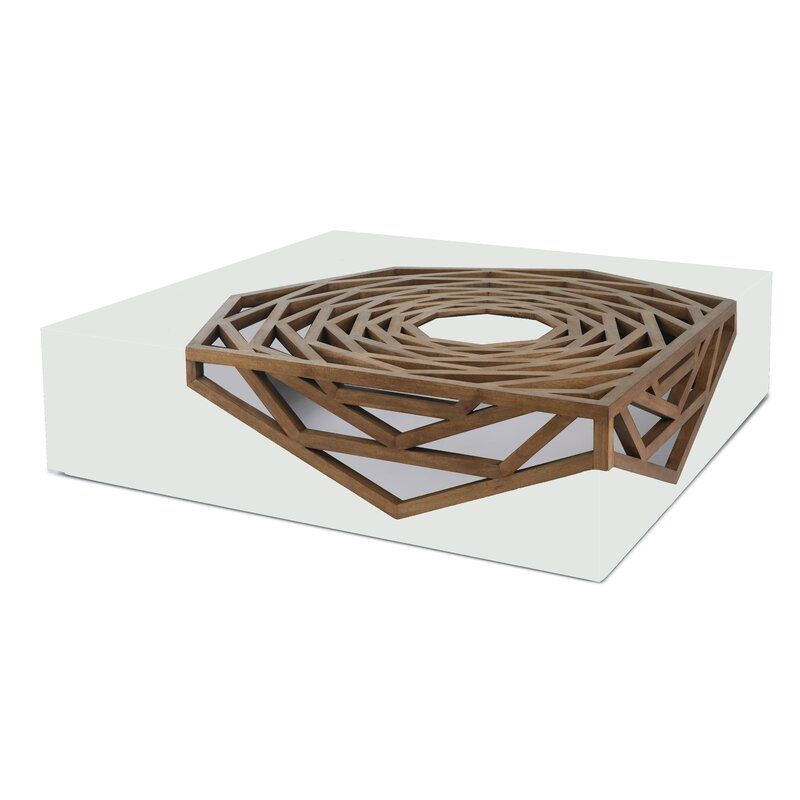 Hanako Solid Wood Abstract Coffee Table In 2020 Coffee Table