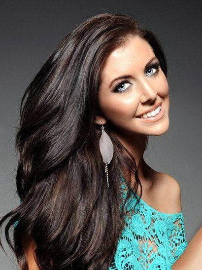 Clip In Extensions Natural Dark Brown European Virgin Hair