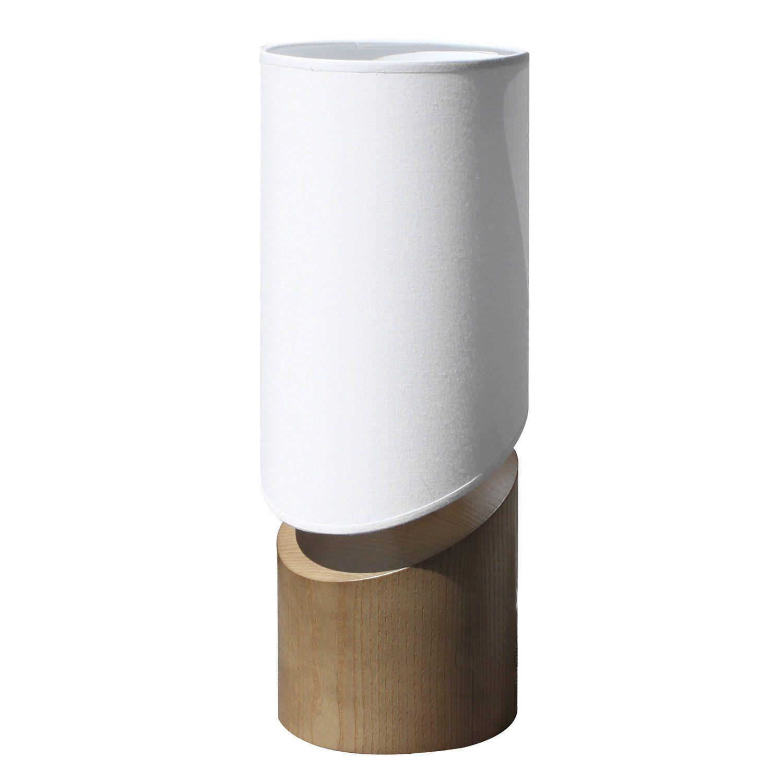 Lampe Arthur Metropolight Coton Sur Pvc Blanc 60 W Leroy  ~ Riel Panel Japones Leroy Merlin