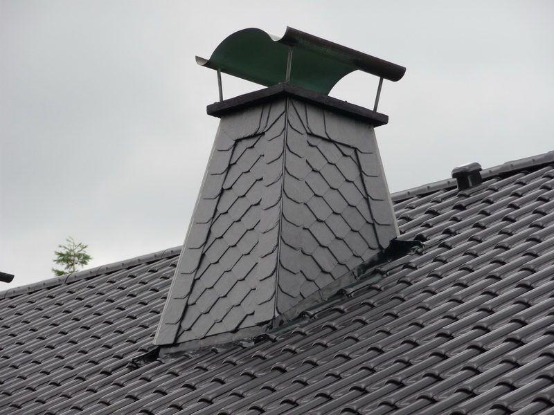 Top Schornstein klassisch mit Schiefer verkleiden | Kamin VP46
