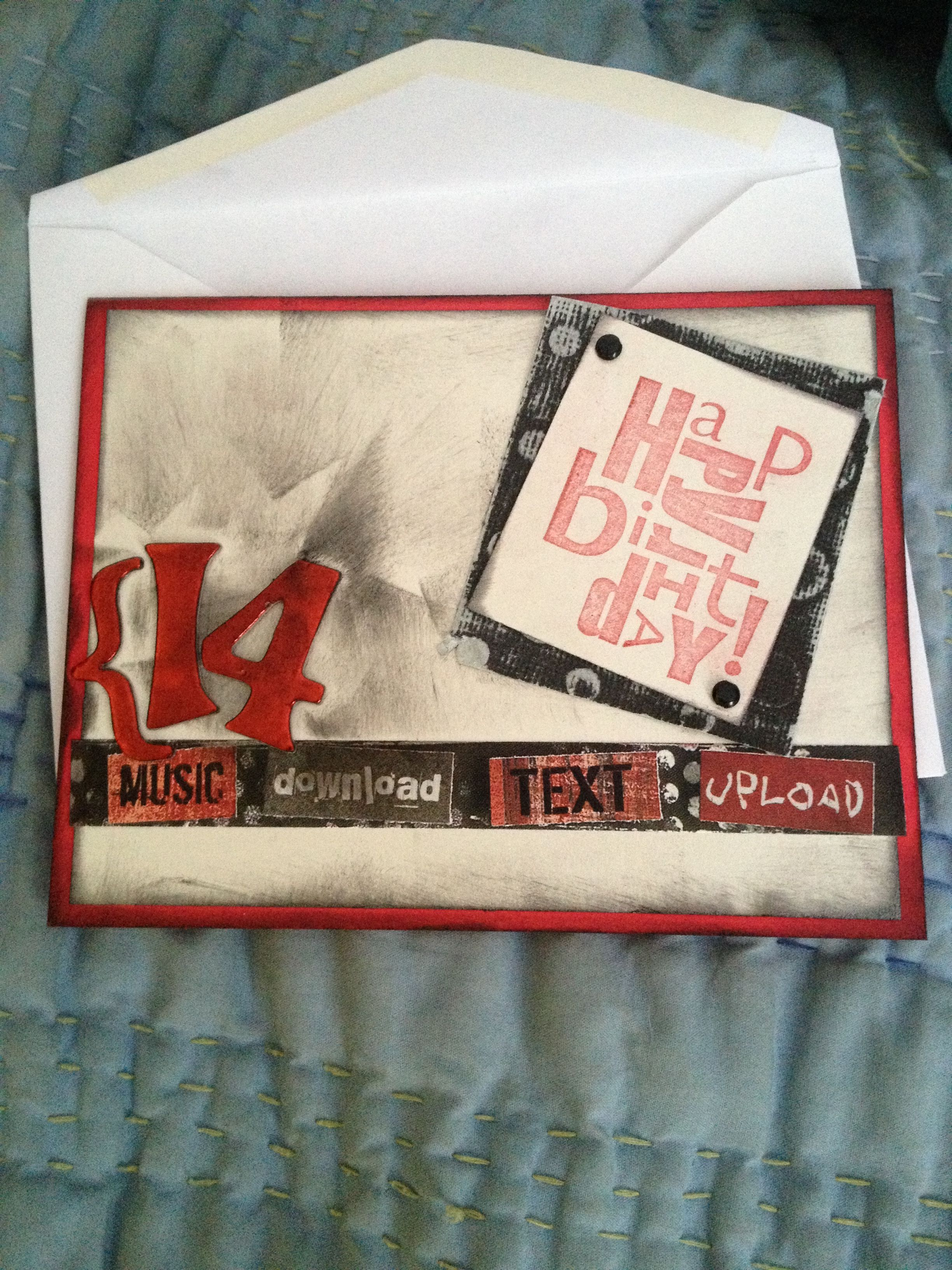 Birthday Card For A 14 Year Old Boy By Laurie