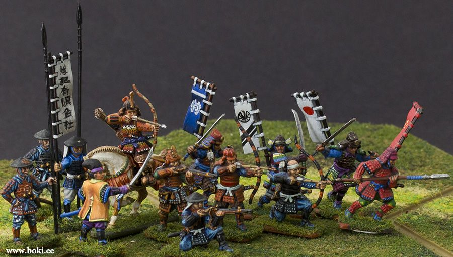 Boki Wargame Miniatures | wargaming miniature samurai in
