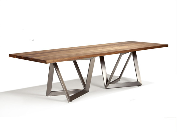 Source Wooden Top And Metal Leg Dining Table Simple Modern Design