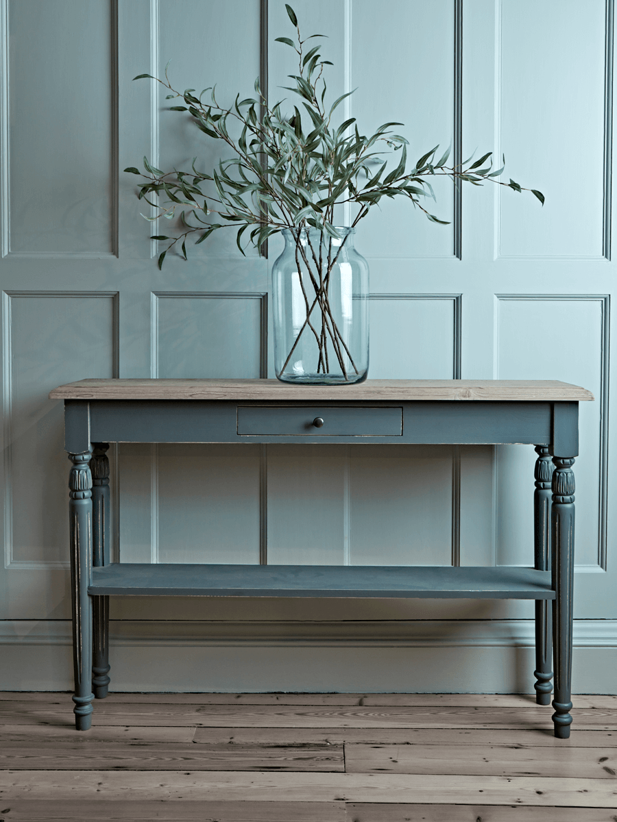 Toulon Console Table Dark Grey Console Table Hallway Console
