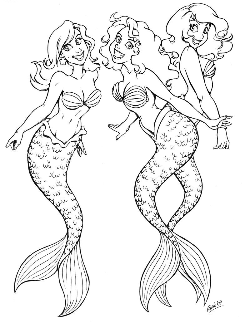Fabulous Mermaid Coloring Pages Online