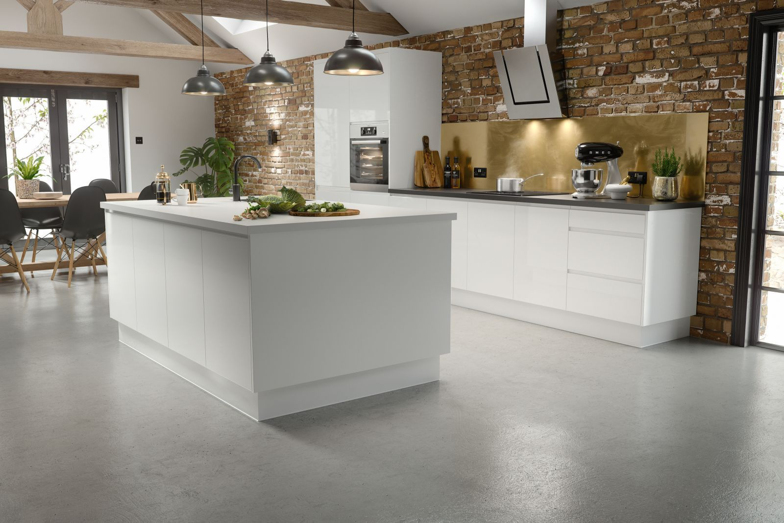 j pull kitchen in gloss white wren kitchen white gloss kitchen handleless kitchen on j kitchen id=12548