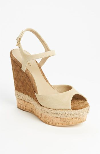 Gucci 'Hollie' Wedge Sandal