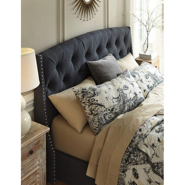 Upholstered Headboard Dark Gray Fabric From Wayfair King 344