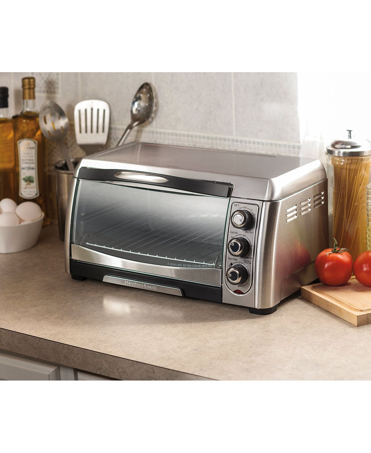 Hamilton Beach Convection Toaster Oven Toasters Toaster Ovens Kitchen Macy S Convection Toaster Oven Toaster Oven Small Appliances