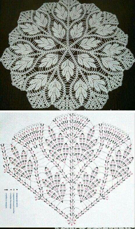 Pin de 홍지영 en 도일리 | Pinterest | Carpeta, Ganchillo y Mantel