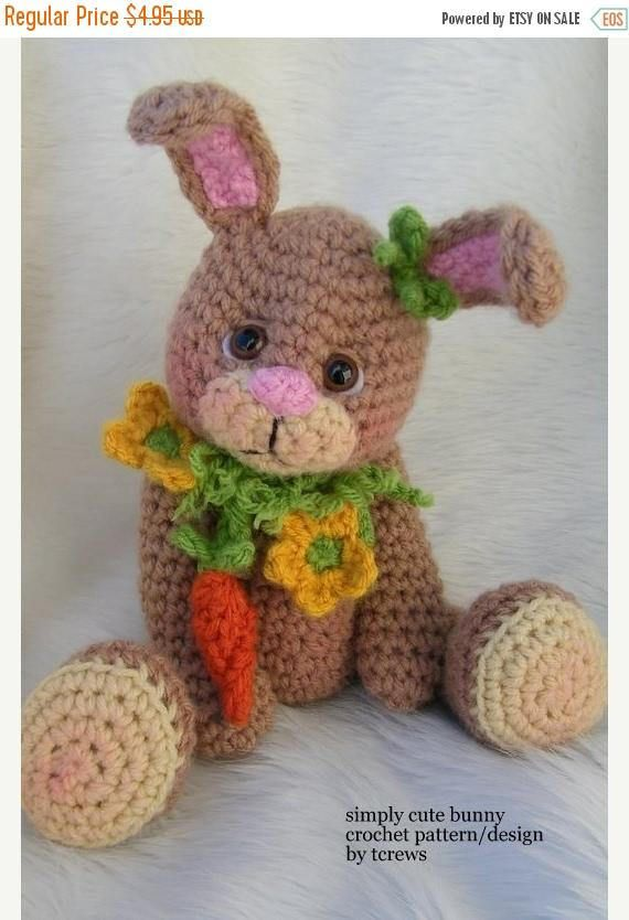 SALE Crochet Pattern Bunny by Teri Crews instant download PDF ...