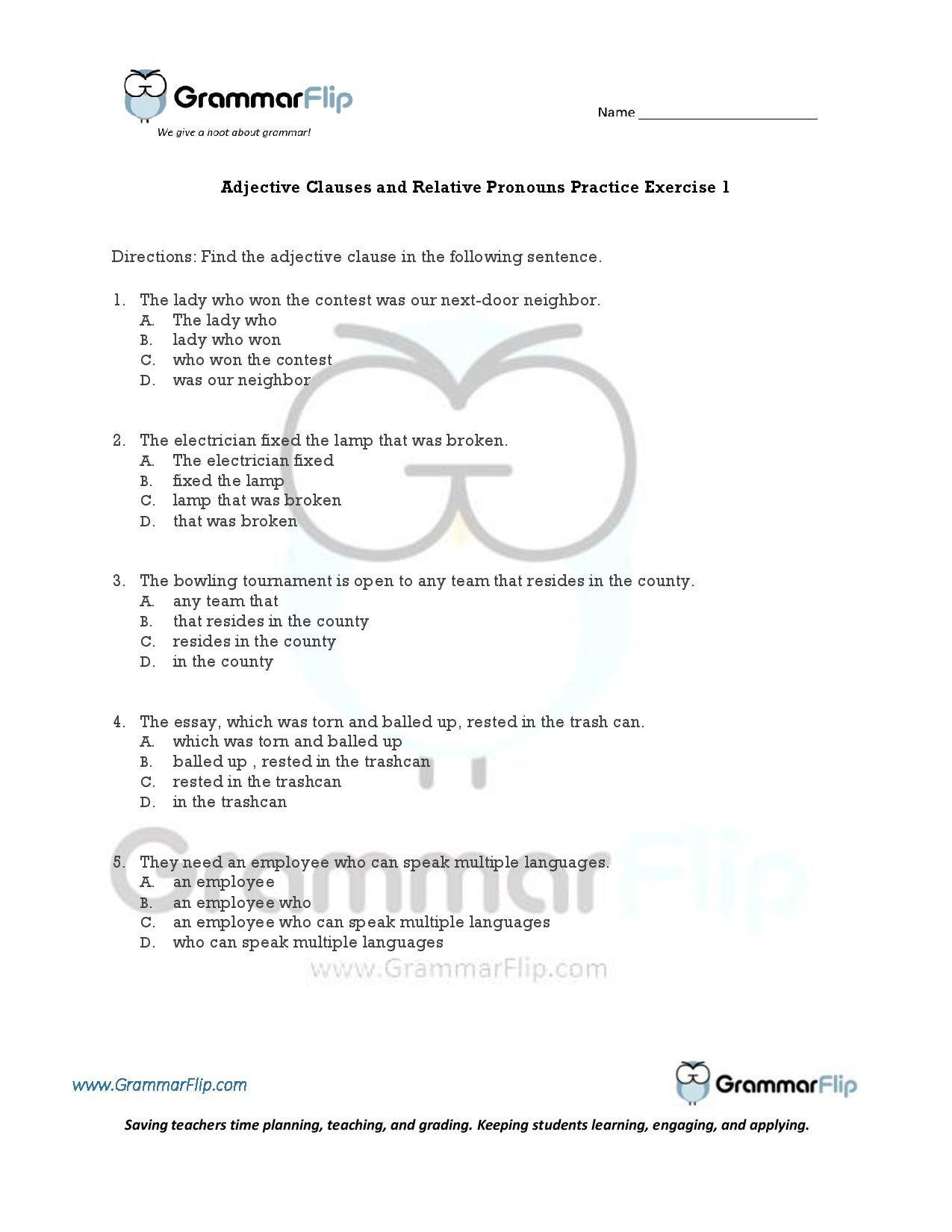 Relative Pronouns Worksheet Grade 4 In 2020 Relative Pronouns Pronoun Worksheets Phonics Worksheets Grade 1