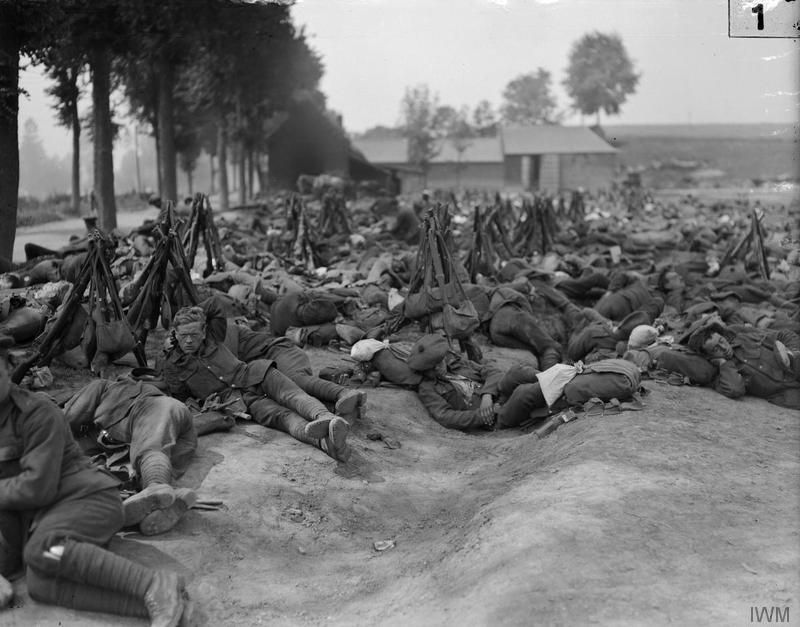 July 19, 1916  Scottish troops resting after duty in the trenches