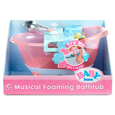 Baby Alive Bath Tub.Baby Born Musical Foaming Bathtub Baby Born New Baby