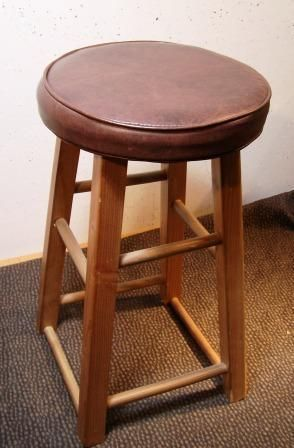 Upholster A Wrapped Seat Cushion Reupholster Bar Stools Seat