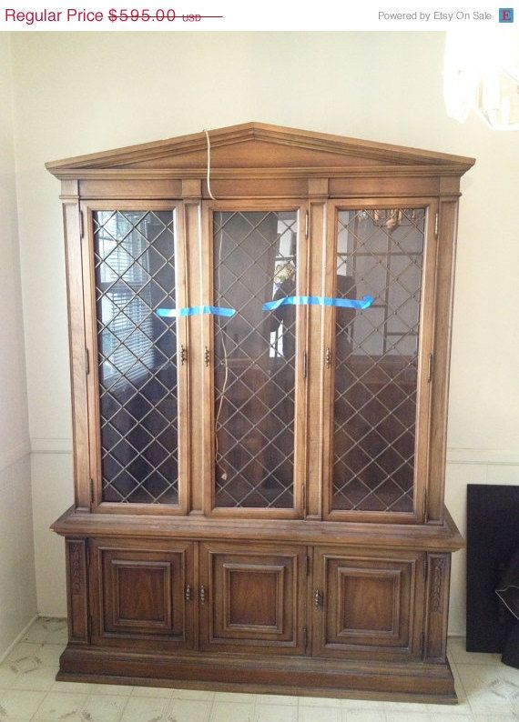 Drexel Heritage China Cabinet/ Antique China By KaliforniaVintage Antique China  Cabinets, Cool Furniture,