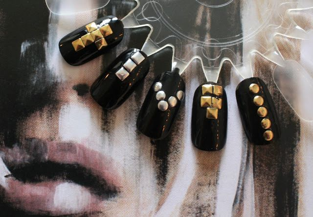 Loving this studded nail art!