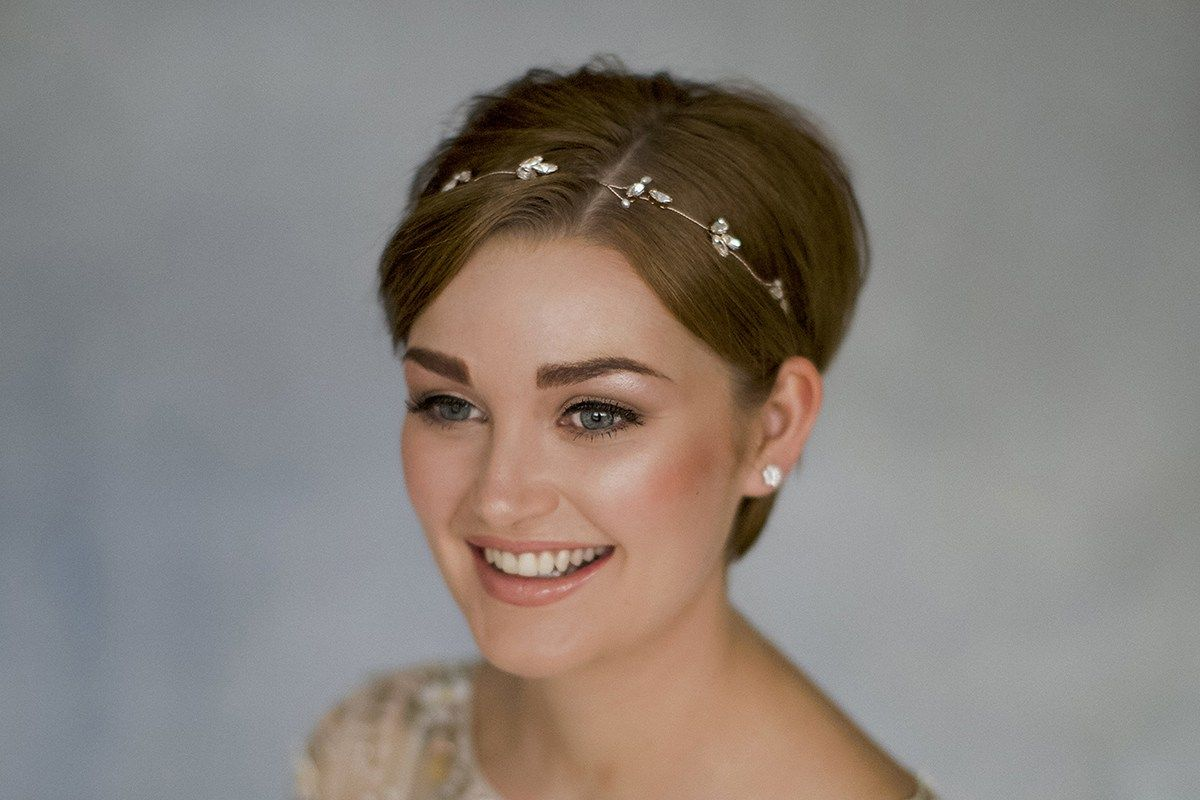 How To Style Wedding Hair Accessories With Short Hair By Debbie