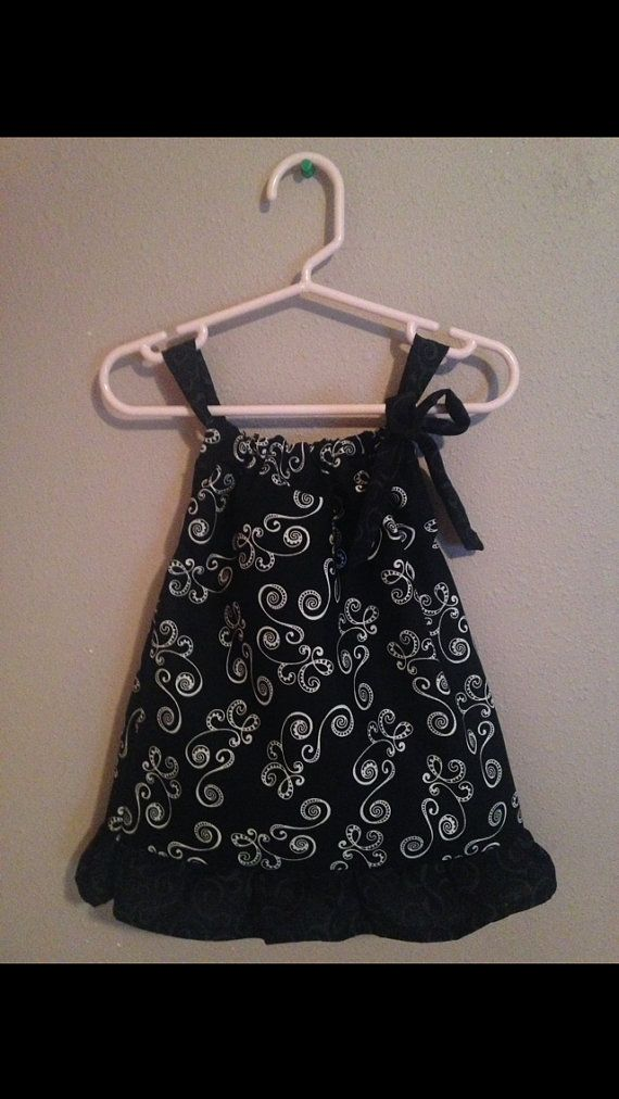 Pillow Case Dress  Size: 6 months  Black with White by Sewn4ACause