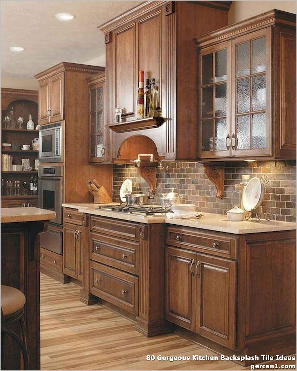 80 Gorgeous Kitchen Backsplash Tile Ideas New Kitchen Cabinets Brick Backsplash Kitchen Craftsman Kitchen