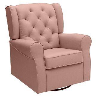 Cutest Swivel Rocker From Target! Blush Pink Nursing Chair. (affiliate)