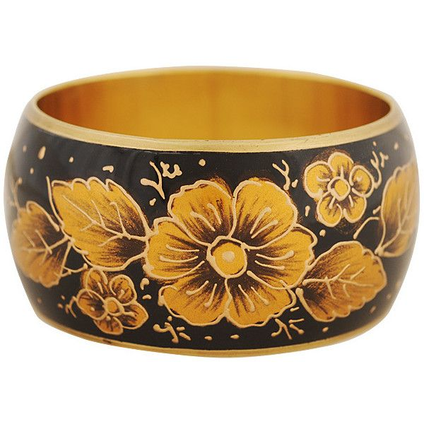 Painted Floral Bracelet ($2.99) ❤ liked on Polyvore featuring jewelry, bracelets, accessories, bracelets and watches, forever 21, forever 21 jewelry, forever 21 bangle, floral jewelry and floral bracelet