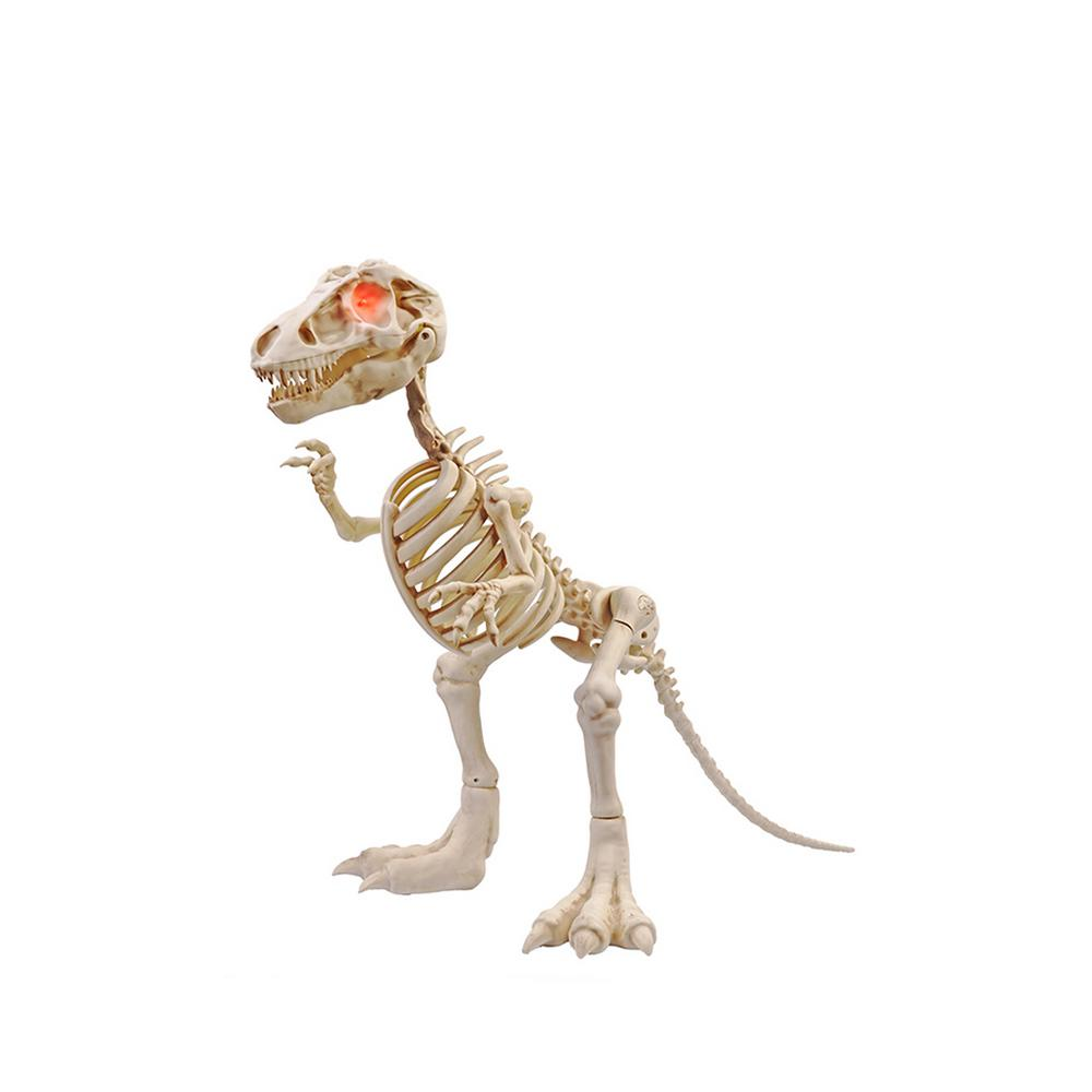 Home Accents Holiday 34 In Animated T Rex With Led Eyes Halloween Skull Decorations Fun Halloween Decor Halloween Outdoor Decorations