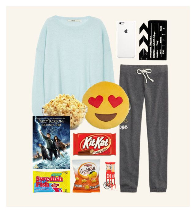 """Movie Night With the Olympians!"" by panda-matowi0715 ❤ liked on Polyvore featuring J Brand, Throwboy, Charlotte Olympia and Nostalgia Electrics"