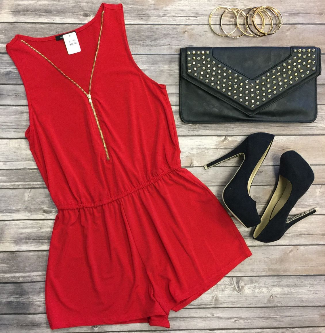 Zip Me Up Romper: Red from privityboutique