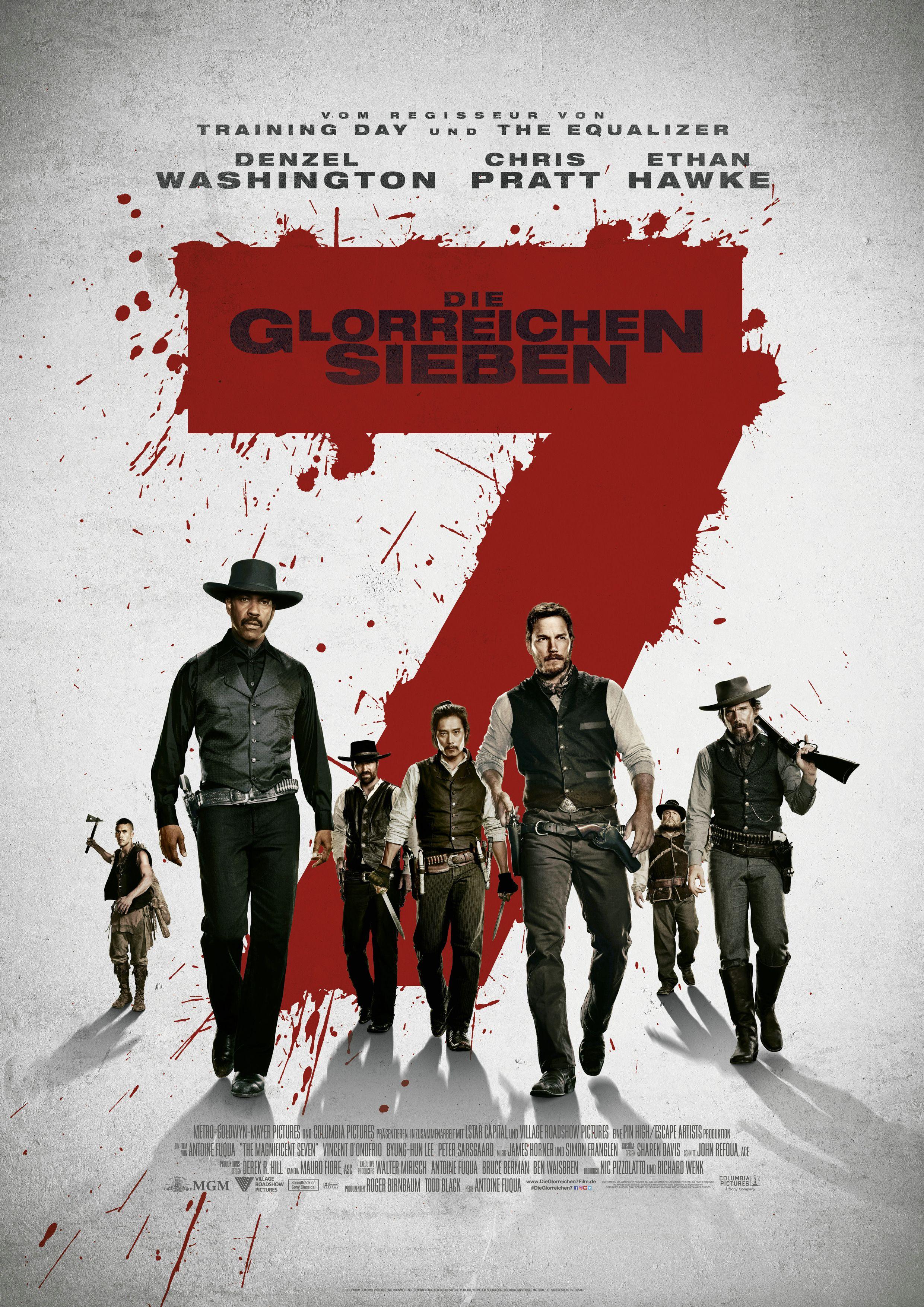 Die Glorreichen Sieben Denzel Washington Chris Pratt Ethan Hawke Haley Bennett Die Glorreichen Sieben Filme Soundtrack