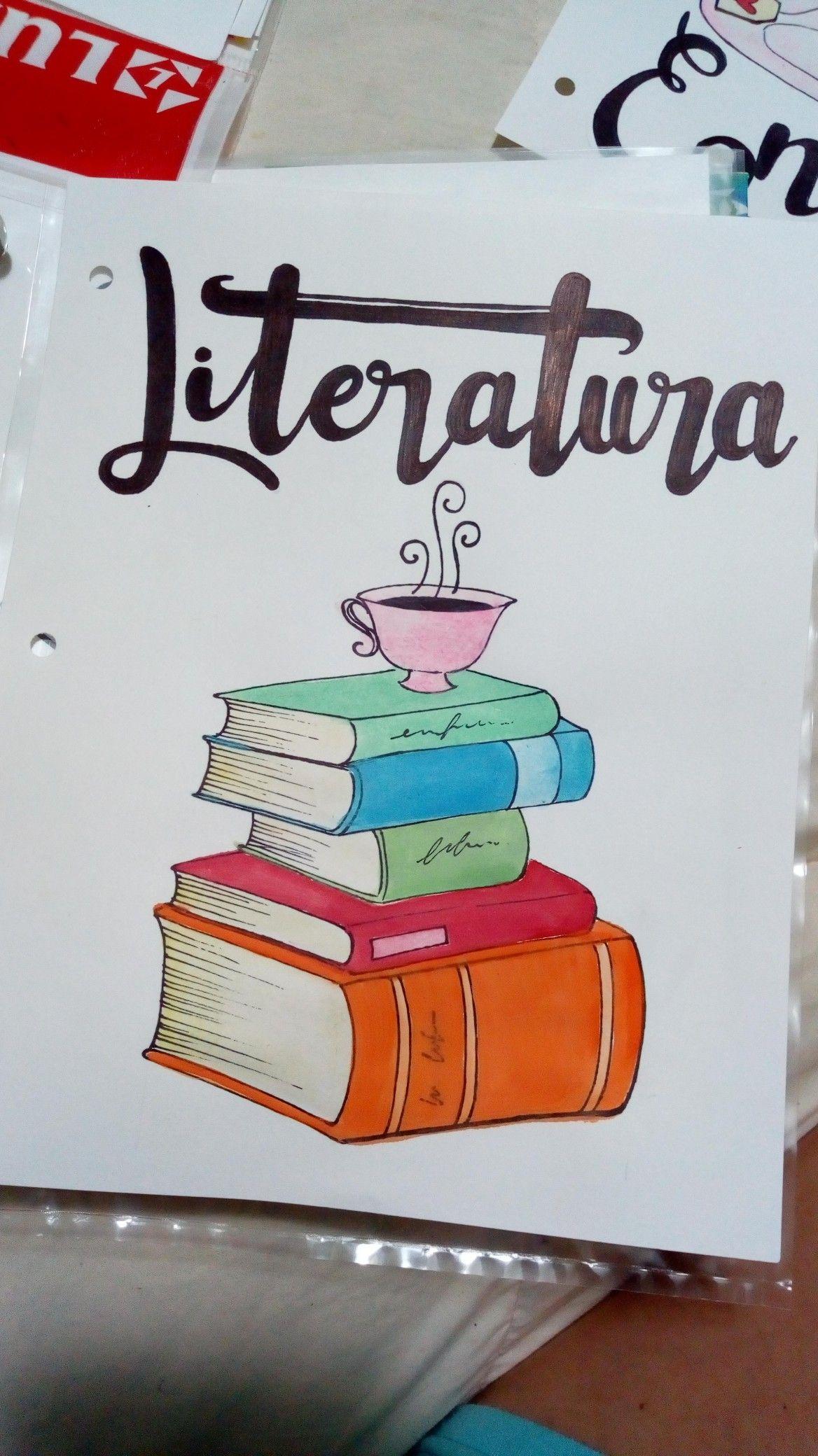 Caratula De Literatura Dibujo Caratula Literatura Acuarelas Capas Para Caderno Tumblr Ideias Para Cadernos Capas De Trabalhos