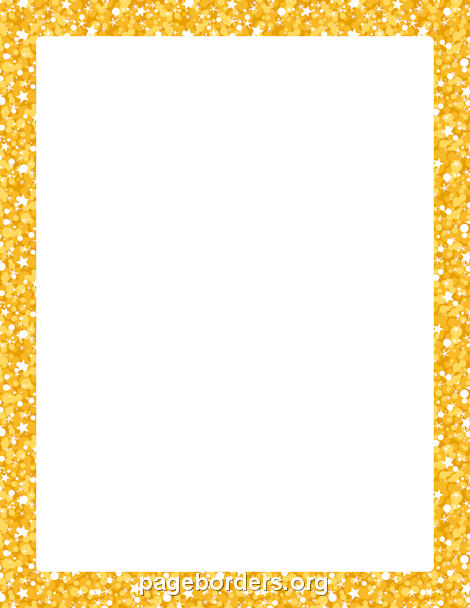Gold Glitter Border Moldura pra foto, Molduras, Notas
