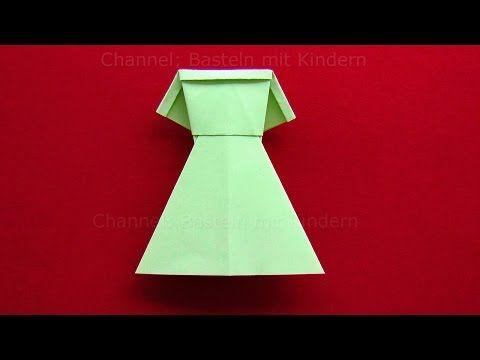 Origami Blaetter , Origami Kleid Falten Diy Kleider Basteln Mit Kindern Origami