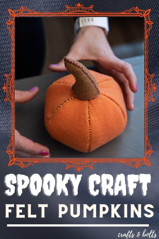 Easy Pumpkin Felt Craft Free Template Halloween Sewing Crafts Pumpkin Crafts Felt Pumpkins