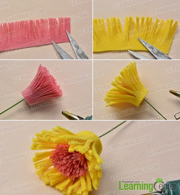 Pandahall Tutorial on How to Make Easy Felt Flower Bouquet at Home ...