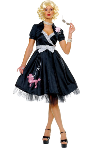 Adult Hop Diva 50s Costume - Black