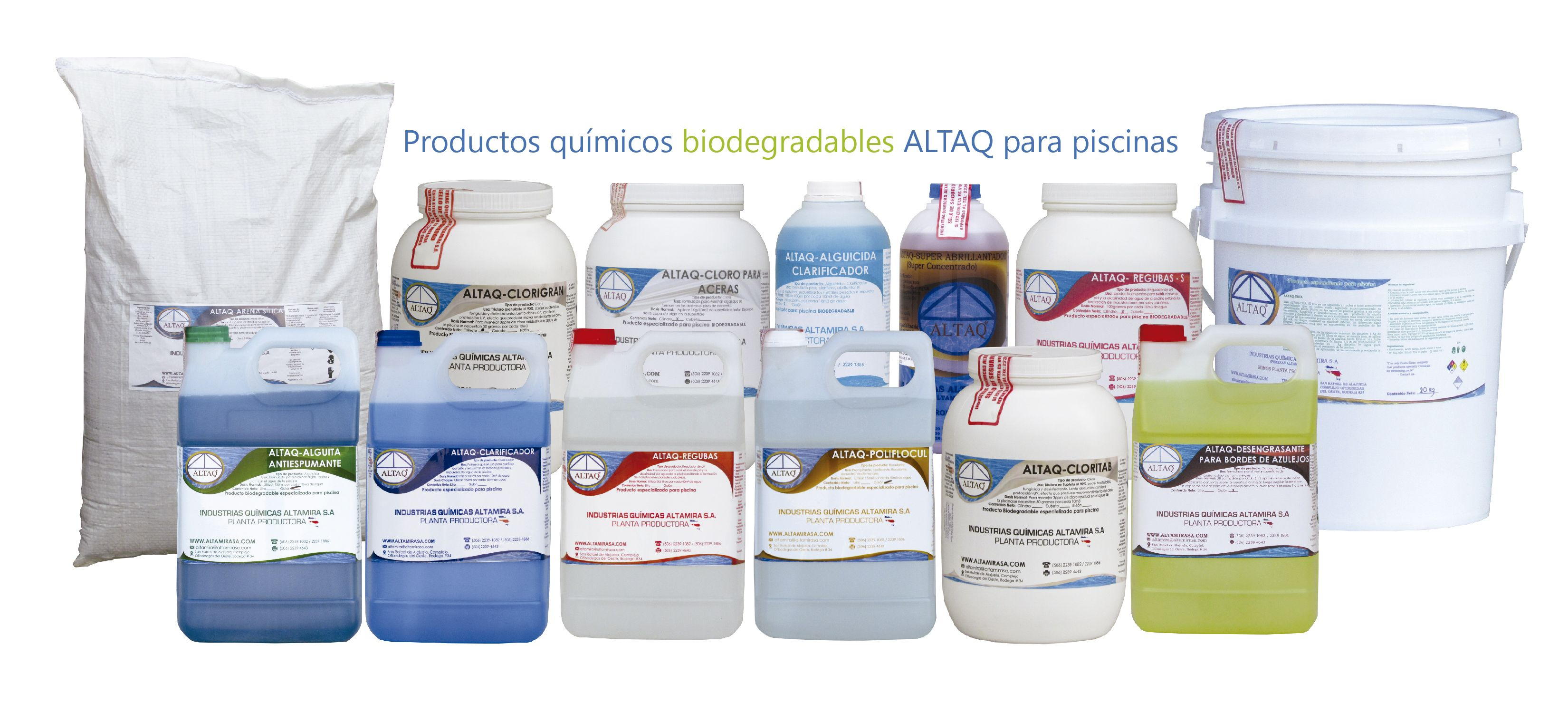 Productos qu micos altaq biodegradables especializados for Productos sika para piscinas