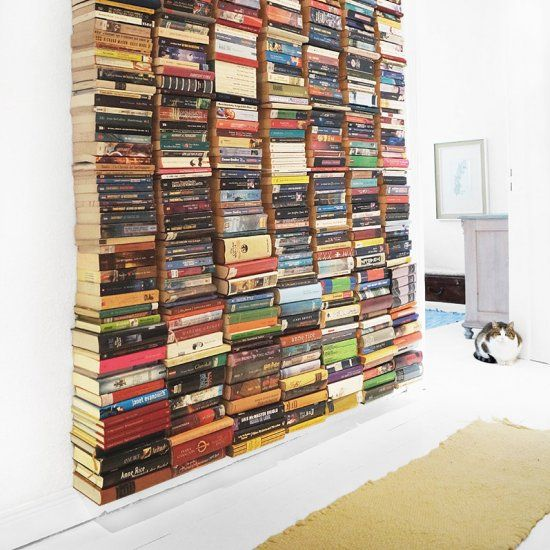 Forget Book Shelves Make A Floating Wall English And German
