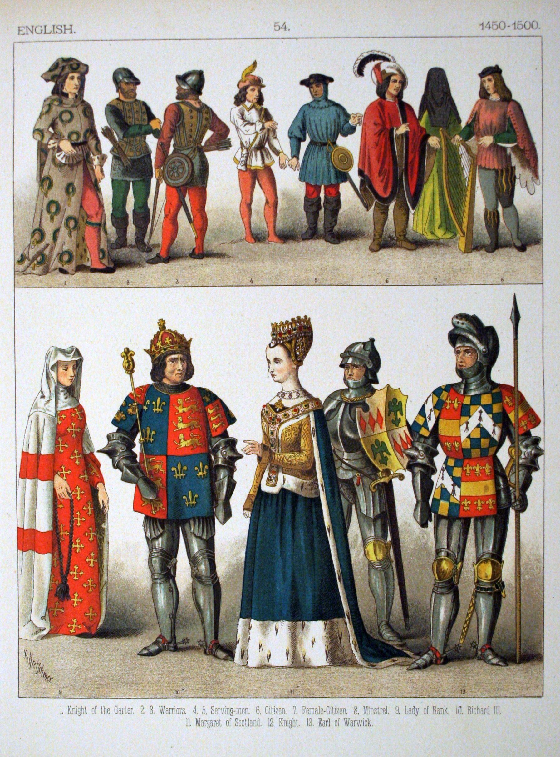 English dress 1350-1400
