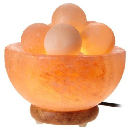Salt Lamp Walmart Fascinating Deluxe Comfort 5'' Bowl Salt Lamps With 6 Massage Crystal Salt Balls