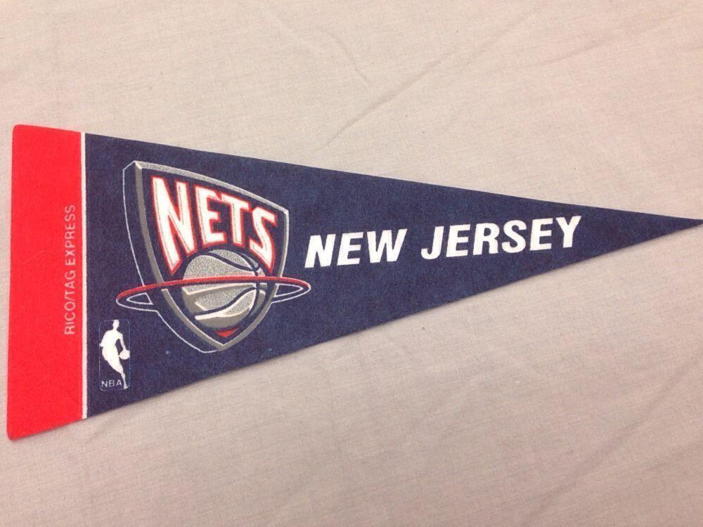 b40dcb45ac3 New Jersey Nets NBA Basketball Mini Pennant Banner Flag 4x9 Licensed  #RicoTagExpress #NewJerseyNets