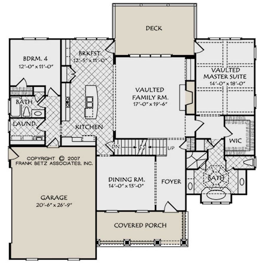 House Plan 8594 00052 Craftsman Plan 2 855 Square Feet 4 5 Bedrooms 3 Bathrooms In 2020 Floor Plans House Floor Plans Frank Betz