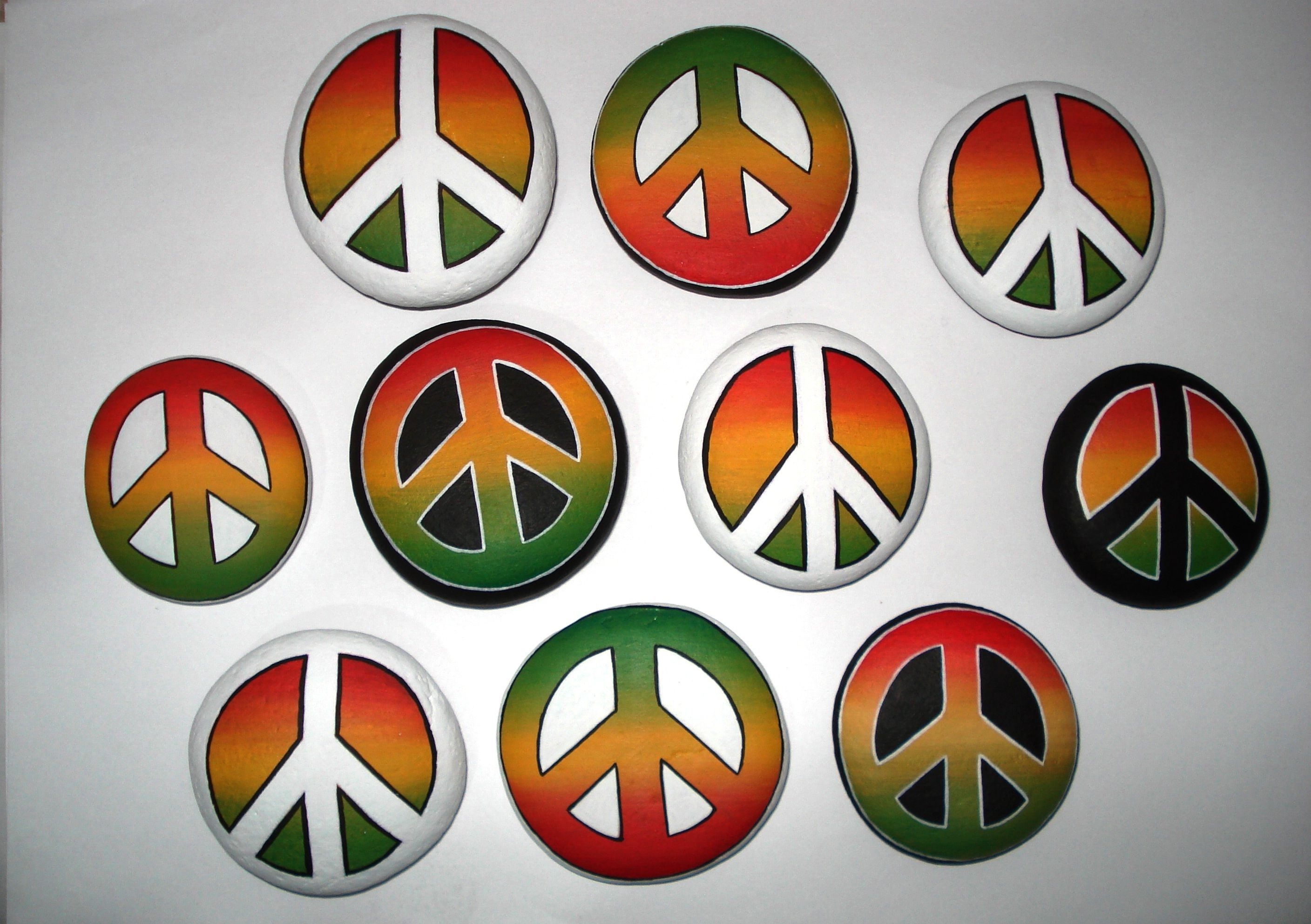 Rock Painting Peace Symbol By Lefteris Kanetis Httpsfacebook