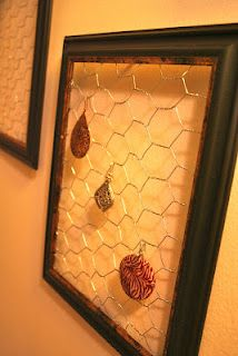 the times are changin': chicken coop earring holder tutorial