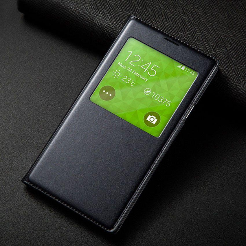 S5 mini smart view auto schlaf mit original-chip telefon case leder flip rückseitige abdeckung für samsung galaxy s5 mini g800 g800f G800H