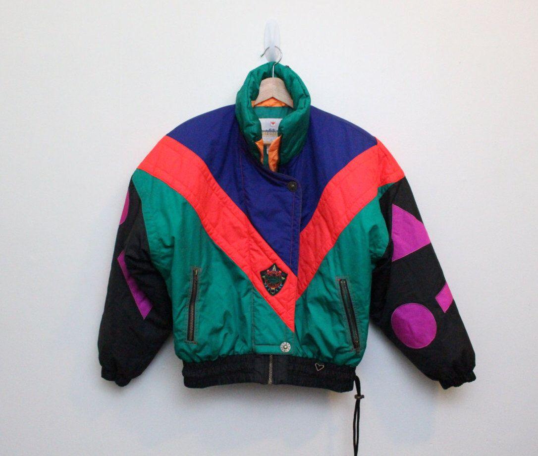 90 s Neon Ski Coat   Vintage Neon Ski Suit   Obermeyer Vintage Ski Jacket  Size M f105d8405