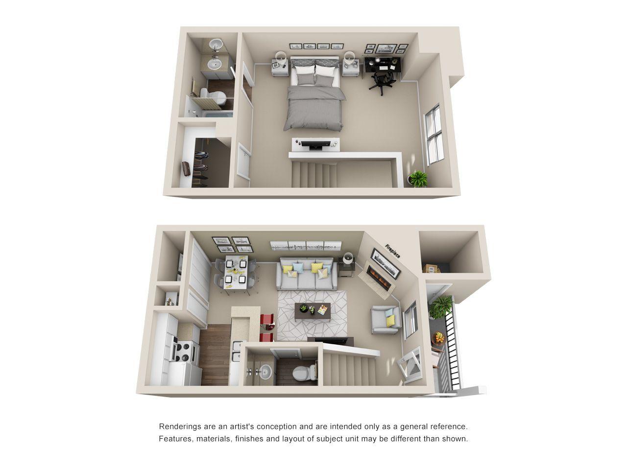 Townhome Apartment Floor Plans Apartment Plans House Design