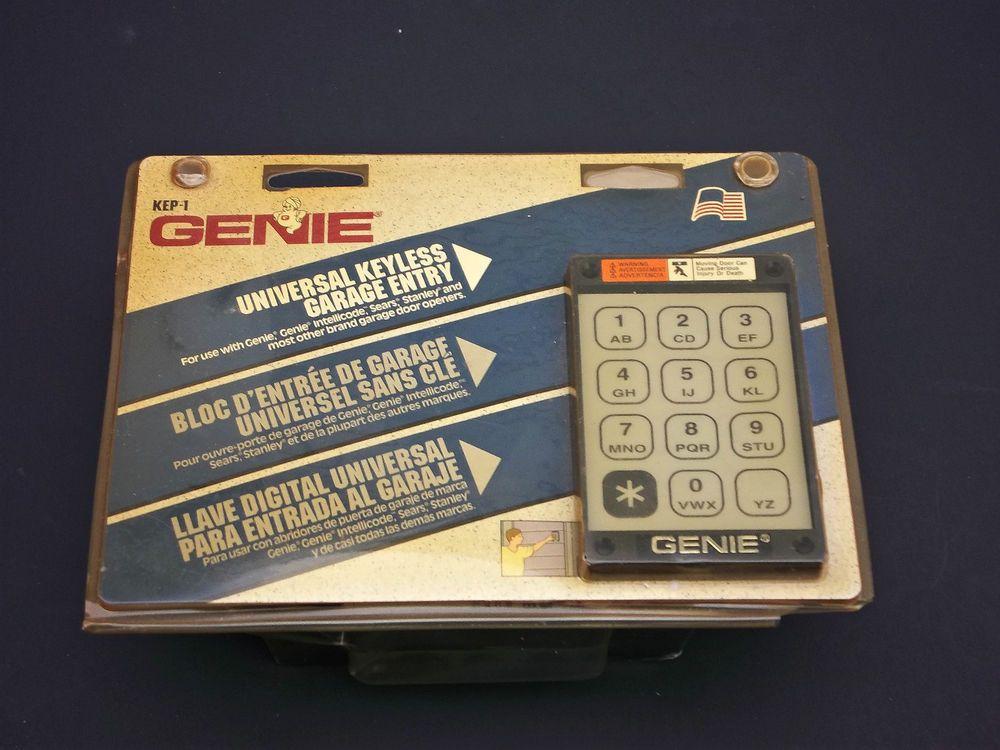 KEP-1 GENIE Universal Keyless Garage Entry Door Opener Keypad NIP #Genie
