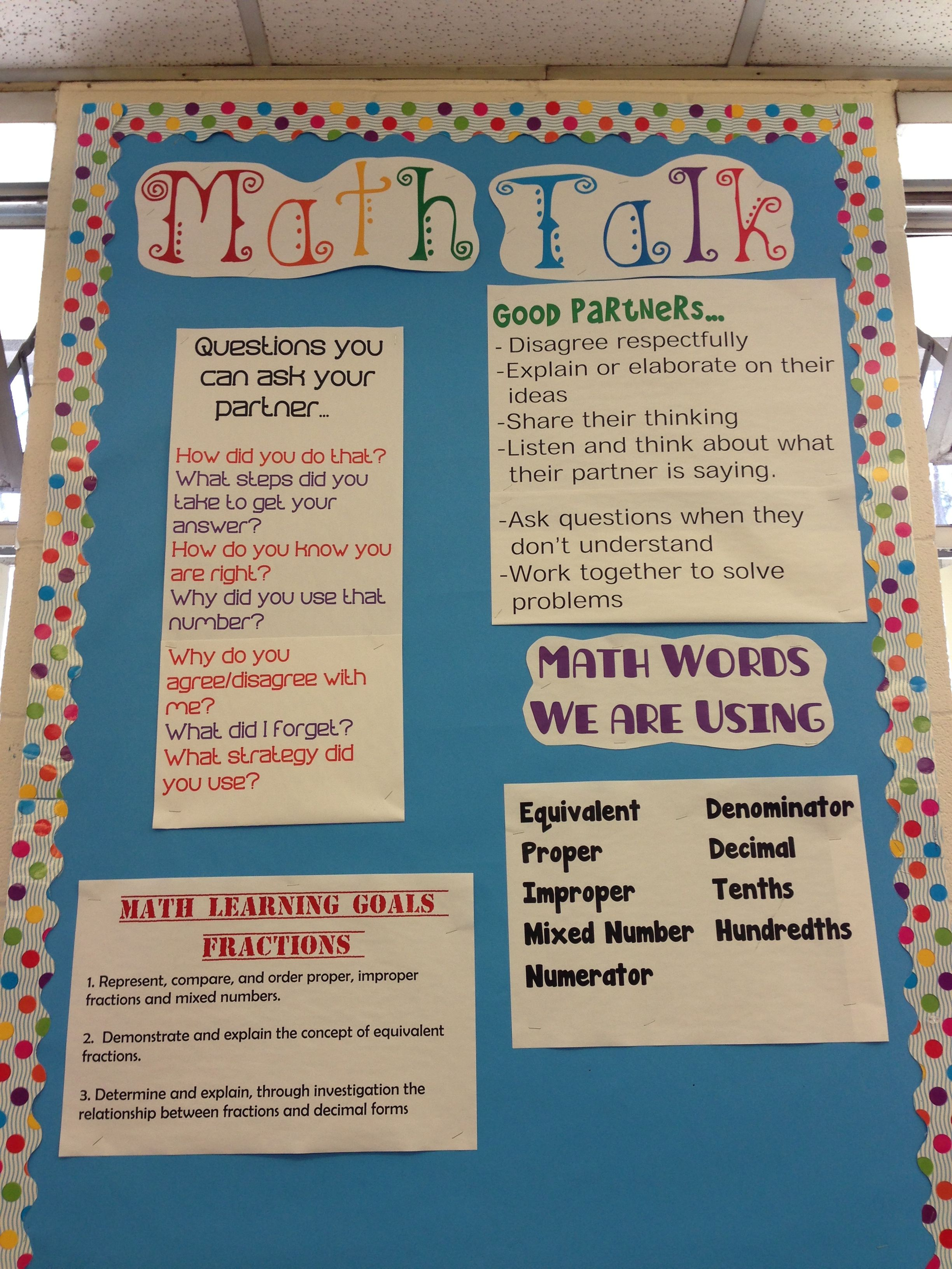 To help students establish a math community. This is essential for ...
