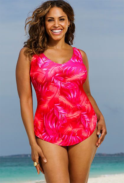 Beach Belle's Rio Vista Plus Size Sarong Front swimsuits ...